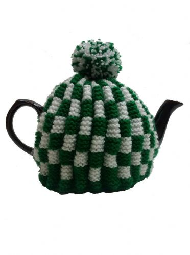Tea Cosy Green & White Check Retro for 4 to 6 Cup (1ltr) Pot. (2)